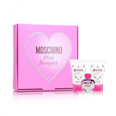 moschino pink bouquet mini set for women
